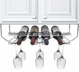 Het Rek van het Glas van de Wijn van het Metaal van Haning voor de Keukenkast van het Huis