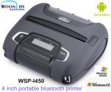 인조 인간 또는 Ios 시스템 Woosim 4 인치 Wsp-I450를 위한 Bluetooth/WiFi 이동할 수 있는 인쇄 기계
