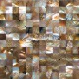 Azulejo de mosaico del shell 15*15m m del pingüino del shell de la fregona del labio de Brown