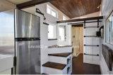 2017 com Loft Casa Móvel reboque, casas de madeira prefabricados sótão, casas de madeira russo para venda (TH-077)