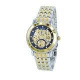 Reloj automático único de lujo del acero inoxidable de la venda de Glod de la marca de fábrica