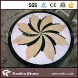 Het ronde Patroon/het Medaillon van de Straal van het Water van de Steen van het Ontwerp van de Ster Marmeren voor Bevloering