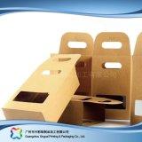 장식용 선물 상자 (xc-pbn-016)를 포장하는 Kraft 종이 평지에 의하여 포장되는 폴딩