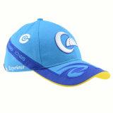 Bouchon de promotion de l'exécution personnalisée Racing Cap Hat bleu Embroidry 3D Casquette de baseball de coton
