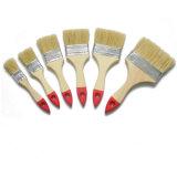 Punho de madeira da cerda branca com a microplaqueta da escova lisa da ponta da cor (GMPB001)