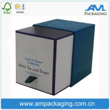 La caja de regalo de lujo cubo personalizado velas de papel Kraft Caja con tapa