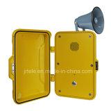 Téléphone industriel d'IP, paginant le téléphone Emergency, téléphone extérieur du haut-parleur 15With25W