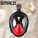 La pleine face de Smaco 180 réglable respirent librement le masque antibrouillard de prise d'air de natation de plongée à l'air de silicones