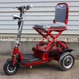 De volwassen 350W Vouwbare Autoped van de Mobiliteit van Drie Wielen Elektro met Ce
