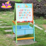 Оптовая торговля двухсторонний детский деревянный Chalkboard выставочный стенд, портативный детей деревянные Chalkboard подставкой Easel Stand W12b102