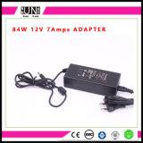 potere di 12V 7AMPS 84W, driver di 84W LED, 84W adattatore, adattatore di 12V 7AMPS, adattatore di 84W AC/DC