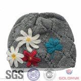 手Made Flower (GKA0401-A00033)を搭載する編まれたHat