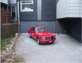Automóvel plataforma de giro ao ar livre da plataforma giratória do carro da garagem de 360 graus