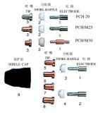 Luft-Plasma-Schweißens-Fackel zerteilt Pch20 für Schweißens-Projekte