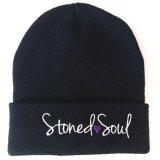 Raya sombrero bordado Sin Aleros Cap Beanie Gorro de lana