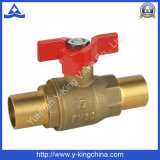 Válvula de gas de cobre amarillo de la bola Pn30 para el sistema de control del gas (YD-1014)