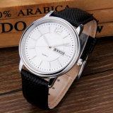 Relógio genuíno do aço inoxidável dos homens de quartzo 316L de Japão da cinta de couro da forma
