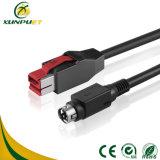 Nickel überzogenes Barcode-Scanner Positions-Terminalregistrierkasse-Daten-Energie USB-Kabel