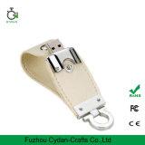 Freie Beispiel-USB-Laufwerk-Blitz-Leder-Schlüsselkette