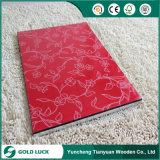 Pour les meubles MDF recouvert de UV (Solide de couleur, du grain du bois, fleur de motif).