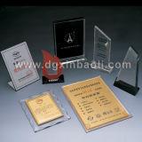 Acrylic Award / Acrylic Authorization Stand / Thropy