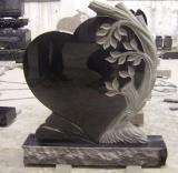 주문을 받아서 만들어진 절대적인 까만 화강암 묘비