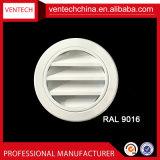 Feritoia rotonda impermeabile di alluminio dell'aria del tempo del muro laterale di ventilazione