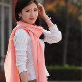 Lenço de lã merino refinado em cores sólidas