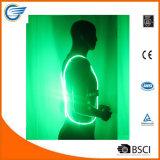 Gilet Illuminating r3fléchissant de visibilité élevée pour le recyclage fonctionnant