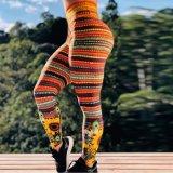 Girassol populares de Impressão Digital atingiu as calças de subida do quadril cintura elevada Sports Calças de ioga Perneiras Mulheres Fashion
