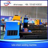 Máquina de estaca sem emenda da tubulação de aço do CNC