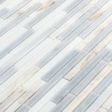 أبيض ورماديّ لون صفح [بكسبلش] جدار [موسيك تيل] مستطيل صغيرة زجاجيّة