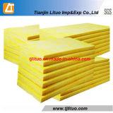 黄色いカラーグラスウールのボードガラス毛布