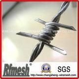 Made in China Galvanizado en caliente alambre de hierro con púas
