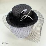 Chapeau de plume de StSatin, ornement de cheveux, (Wp-344) bureau udent accessoire (SW-21)