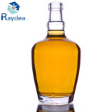 botella de cristal oval de pedernal 500ml para el licor