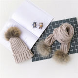 Cappello lavorato a maglia della presa di fabbrica con pelliccia Ponpom nel prezzo basso