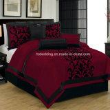 Piccoli regina 100% del poliestere di MOQ/re Size Flocking Bedding Set