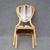 Estilo da forma que empilha a mobília de alumínio do hotel do metal que janta a cadeira (YC-D71)