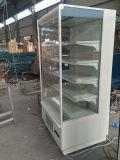 Refrigerador de aire abierto del anuncio publicitario, bebida y refrigerador de la visualización de las bebidas