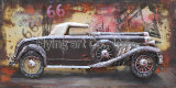Воспроизведение 3 D металлические покраски стены оформлены для автомобилей