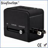 Construit en double chargeur USB Prise adaptateur de voyage (XH-UC-026)