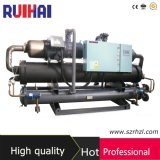 Capacité de refroidissement élevée d'Effeciency 260kw/67ton dans le refroidisseur d'eau industriel de Comprossor de vis de Hanbell d'inducteur
