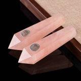 Da tubulação de cristal da mão da cor-de-rosa da tubulação da mão tubulação de fumo material natural de fumo