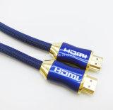 2017 이더네트를 가진 4K 2.0 3D HDMI 케이블 4K 금에 의하여 도금되는 영상 HDMI 케이블