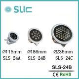 Nuovi 24W impermeabilizzano la lampada esterna del riflettore del LED