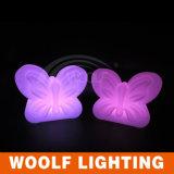 LEDのリモート・コントロール美しい蝶ライト卓上スタンドRGB 16カラー