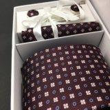 Insieme tessuto jacquard di seta 100% Handmade del contenitore di regalo del legame degli uomini