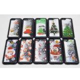 Caja del teléfono celular de la arena movediza TPU de la nieve del regalo de la Navidad para el iPhone