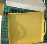 Biodegradierbares rechteckiges Bambusfaser-Tellersegment (YK-P4020)
